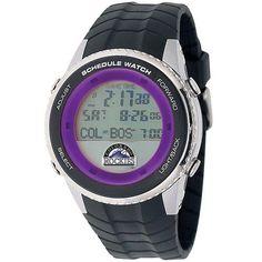 Colorado Rockies Mens Schedule Wrist Watch