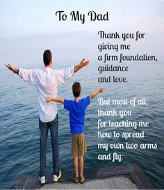 Father's Day Message from Son to Father #Fathers #Father's Day