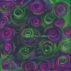 Heady Roses - acrylic painting on canvas