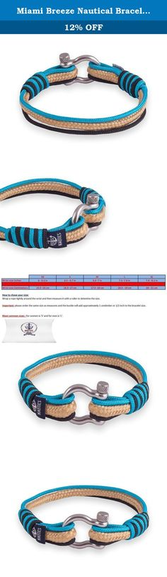 Miami Breeze Nautical Bracelets By U.S. Nautics- Beautiful Bracelets Made of Yachting Rope- Wide Variety of Different Designs & Colors-With Stainless Steel Buckle- Great Gift Idea For Men & Women (Small). Wear Your Nautical Bracelet & Welcome On Board - Let's Set Off For Summer! Do you search for a beautiful accessory that matches with the year's most beloved season, summer? Are you passionate with sea, water activities, and all marine/sailing stuff? Of course, who isn't! Meet The Amazing...