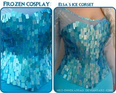 Elsa Corset Cosplay Tutorial by Nko-ennekappao on DeviantArt Frozen Cosplay, Elsa Cosplay, Frozen Costume, Disney Cosplay Costumes, Cosplay Outfits, Adult Costumes, Disney Princess Dresses, Princess Costumes, Princess Dress Patterns