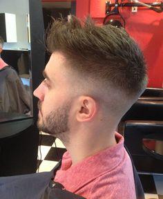 Stylish Fade Sides aStraight Razor Cut for Men
