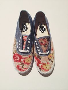 Custom Made Floral Vans (women's)