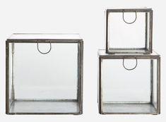 Pm0322 - Aufbewahrungsbox, Set aus 3 Größen, schwarz antik, S.: 9x9 cm, h.: 9 cm, M.: 12x12 cm, L.: 15x15 cm, h.: 15 cm
