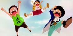 Ace,Luffy e Sabo,amigos e irmãos   Luffy Island