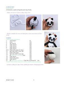 Crochet Cow, Crochet Patterns Amigurumi, Cute Crochet, Amigurumi Doll, Crochet Animals, Amigurumi For Beginners, Newborn Toys, Funny Animal Pictures, Panda