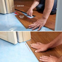 Pro Tips and Tricks for Installing Laminate Flooring - 12 Tips for Installing Laminate Flooring ~ Laminate Floors: Tips to Avoid humps, bumps, gaps and cr - # Installing Laminate Wood Flooring, Diy Flooring, White Flooring, Flooring Ideas, Hardwood Floors, Modern Flooring, Unique Flooring, Brick Flooring, Kitchen Flooring