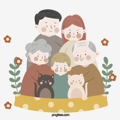 Kids Background, Watercolor Background, Children And Family, Baby Family, Filial Piety, Family Potrait, Family Drawing, Family Illustration, Clipart Images