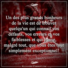 Cette personne tellement cher à nos yeux. Sweet Love Words, Cool Words, Famous Love Quotes, Love Phrases, French Quotes, My Mood, Positive Thoughts, Positive Attitude, What Is Love