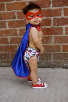11 months photo for his Superhero 1st Birthday invitations