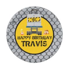 Construction Birthday Party 7 Inch Paper Plate