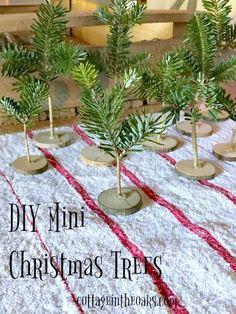 DIY Tiny Trees for Christmas