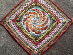 """Ravelry: Spiralling into Spring March Mystery 9""""/12"""" Afghan Block Square pattern by Margaret MacInnis"""