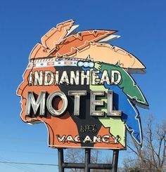 "73 Likes, 13 Comments - Smokestack Vintage (@smokestack_vintage) on Instagram: ""I need this in my living room! #indianhead #sign #neonsign #wisconsin #signage #motel"""