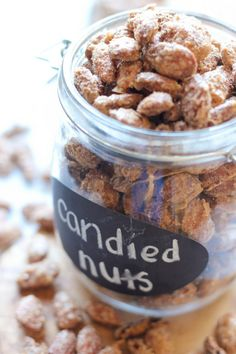 Cinnamon Sugar Candied Nuts - easy to make and perfect for budget-friendly gifts for family and friends! Yum!!
