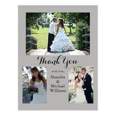Wedding Three Photo Thank You Card - thank you gifts ideas diy thankyou