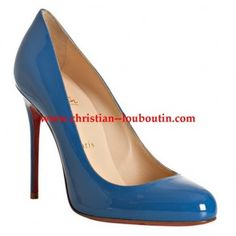 $219  Christian Louboutin royal blue patent 'Fifi 100' stiletto pumps
