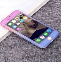 New !Gradient Colorful 6 6S Plus Case 360 Degree Cool Full Protective for iPhone 6 6S Plus Phone Cover Coque with Tempered Glass