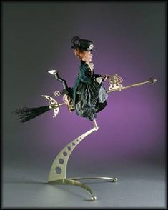 Steampunk witch doll | amazing steampunk witch by doll artists jodi and richard creager