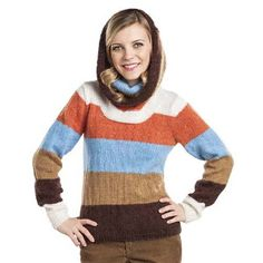The versatile Two Ways One Sweater is a fun project that you'll love to wear. This clever turtleneck sweater is knit with a wide, cowl-like neck that can be turned up over the head like a hood when cold weather unexpectedly strikes.
