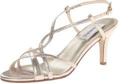 sandals: Dyeables Women's Elvira Dress Sandal,Champagne B US Rose Gold Sandals, Fashion Sandals, Shoe Shop, Dress Sandals, Heels, Women's Sandals, Womens Fashion, Stuff To Buy, Shopping