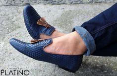 Loafer Tejipiel Azul Exclusivo por Tiendas Platino