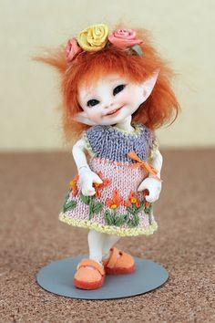 Real Puki, Realpuki Tiny Doll Outfit, Three Piece Set, Dress, Shoes, Hairband.