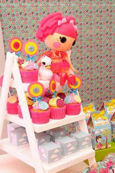LalaLoopsy themed birthday party via Karas Party Ideas KarasPartyIdeas.com #lalaloopsy #nanjaloopsy #birthday #party #ideas #cake #supplies #idea #favors #table #dessert (1) (45)