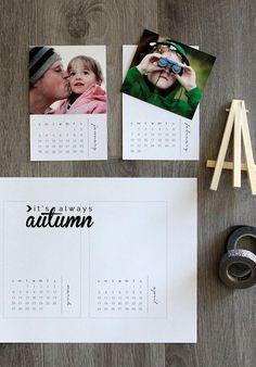 Calendario para personalizar con fotos