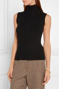 Michael Kors Collection | Ribbed stretch cashmere-blend turtleneck top | NET-A-PORTER.COM