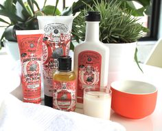 Spring refreshments, try our new Pomegranate & Acai body care line!