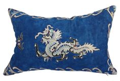 Chinese  Embroidered Dragon Pillow