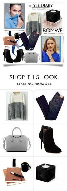 """""""WIN White Grey Round Neck Shaggy Knit Sweater Rules:"""" by nedim-848 ❤ liked on Polyvore featuring True Religion, Givenchy, Ted Baker and romwe"""