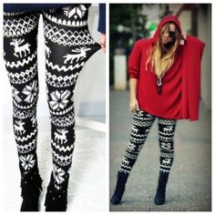 House Party Outfit Winter Sweaters Ideas For 2019 Christmas Leggings, Winter Leggings, Christmas Party Outfits, Christmas Fashion, Cute Sweaters, Winter Sweaters, House Party Outfit, Winter Wardrobe, Winter Outfits