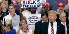 """About That """"Blacks For Trump"""" Guy Standing Behind Trump At The Phoenix Rally...."""