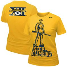 The Official 2012 WVU Nike Fan Tee is a great way to show your school spirit!  The back has the inaugural WVU Big 12 logo.  It is the only product that will have this logo.  Get it where WVU Nike merchandise is sold.