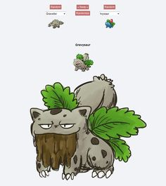 Gravysaur | 43 Pokemon Mash-Ups That Are Better Than The Real Thing