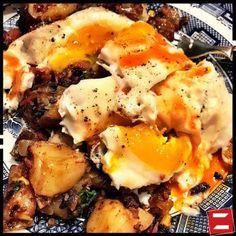 Corned beef hash and eggs. YUM!