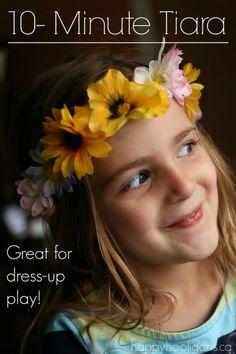 Easy Flowered Tiara Craft for Kids