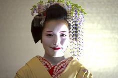 Maiko (apprentice geisha) Ayano from Gionkobu  View On Black