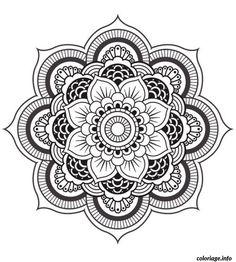 Coloriage mandala fleur Dessin à Imprimer