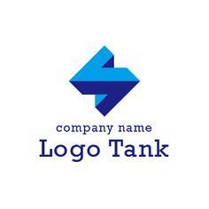 立体的な形をしたロゴマーク アルファベット,A,立体的,3D,安心,信用,信頼,青色,単色,企業,ロゴ,作成,制作
