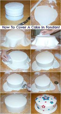 How To Cover A Cake With Fondant (Tutorial) - Zuckerkunst - Tipps und Tricks - Kuchen Cake Decorating For Beginners, Cake Decorating Techniques, Cake Decorating Tutorials, Cookie Decorating, Decorating Ideas, Cake Decorating With Fondant, Fondant Cake Decorations, Decorating Cakes, Simple Cake Decorating