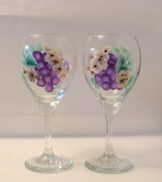 Painted Wine Glasses Ideas | Recent Photos The Commons Getty Collection Galleries World Map App ...