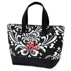 Damask Lunch Tote for Bridesmaids | Bridesmaid Gifts