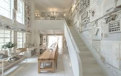 Treppe Bildergalerie Knochen als Wanddekor in dem Restaurant