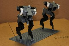 These are heavily influenced by the Gekkos from MGS, although I have changed several aspects, particularly the visual sensors (the black cluster on their noses) Lego Robot, Lego Toys, Robots, Anime Couples Manga, Anime Girls, Lego Mechs, Lego Military, Cool Lego Creations, Striders