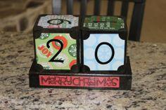 Christmas countdown Blocks.