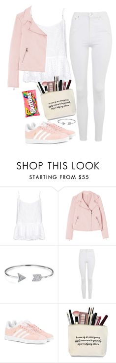 """All Pink"" by thefashionguilty on Polyvore featuring Velvet by Graham & Spencer, Bling Jewelry, Topshop and adidas Originals"