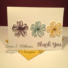 Erica's Stamping Creations: Stampin' Up! 2014-2016 In Colors, Flower Shop, Four You, Handmade Card